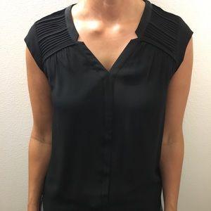 Daniel Rainn silk shirt with pin tuck detail